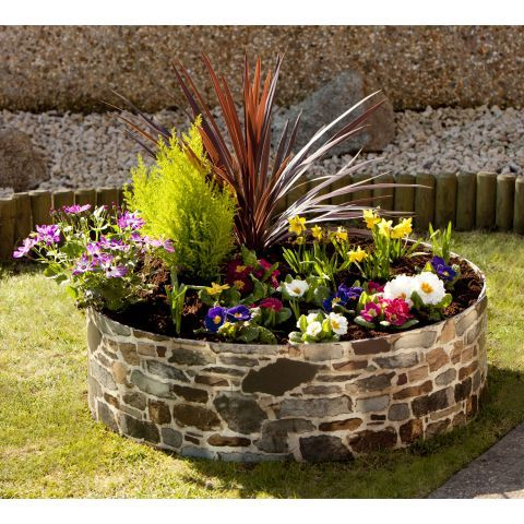 GrowRings Single Tier 2 Panel Pack Raised Flower Bed - Rockery – Next Day Delivery GrowRings Single Tier 2 Panel Pack Raised Flower Bed - Rockery from WorldStores: Everything For The Home
