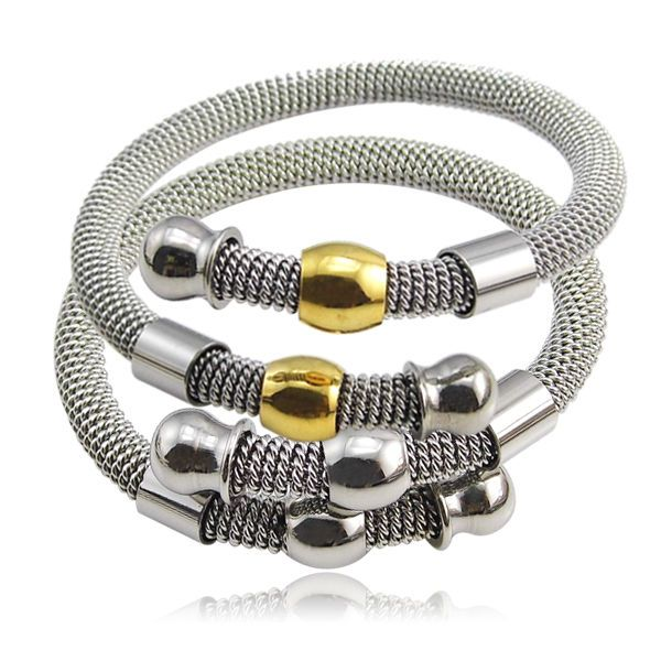 New Spring Steel Wire Adjustable Fashion Jewelry Wholesale Gift New Trendy Charm Bracelets Bangles Women/Men Jewelry