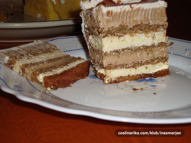 """Ovaj sam receptić dobila od jedne rođake pod nazivom """"Bijela torta"""" a kako ona baš nije bijela ja je zovem """"fina"""". Možda i postoji ovaj recept već ovdje ali evo ga i u mojoj režiji. Torta je fina zasitna i izdašna za rezanje. Dakle da počnemo:..........."""