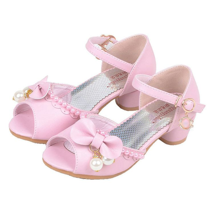 >> Click to Buy << 2017 Summer Children Princess Sandals Bownot Kids Wedding Shoes High Heels Dress Shoes Party Shoes For Girls Sandal #Affiliate