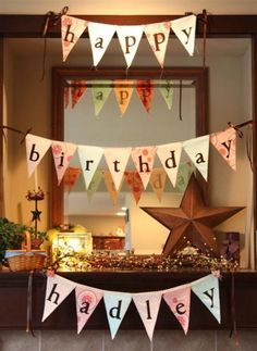 great tutorial on how to make a birthday banner