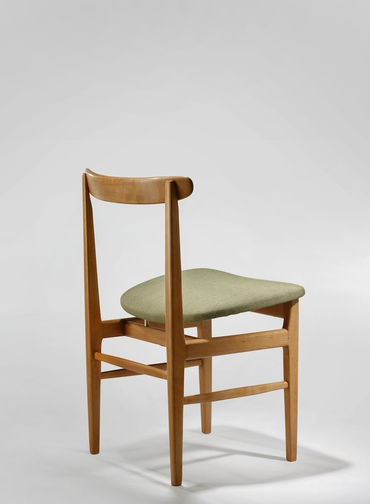 Set of Four 1950s Dining Chairs by René Jean Caillette | From a unique collection of antique and modern dining room chairs at https://www.1stdibs.com/furniture/seating/dining-room-chairs/