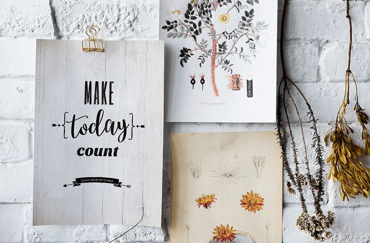 Make Today Count Personalized Print from Jibe Prints. Inspirational wall art for your home and workspace. #inspirationalquote #hobby #posters #personalized