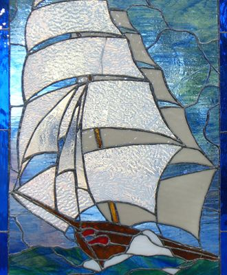 Stained glass - Clipper