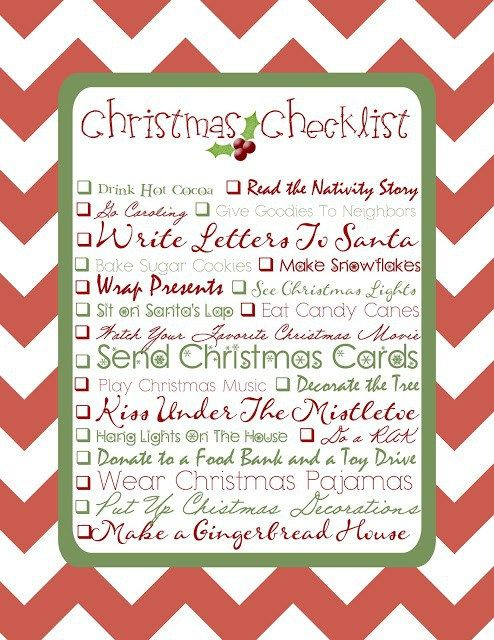 25 best ideas about Christmas checklist – Christmas Preparation Checklist