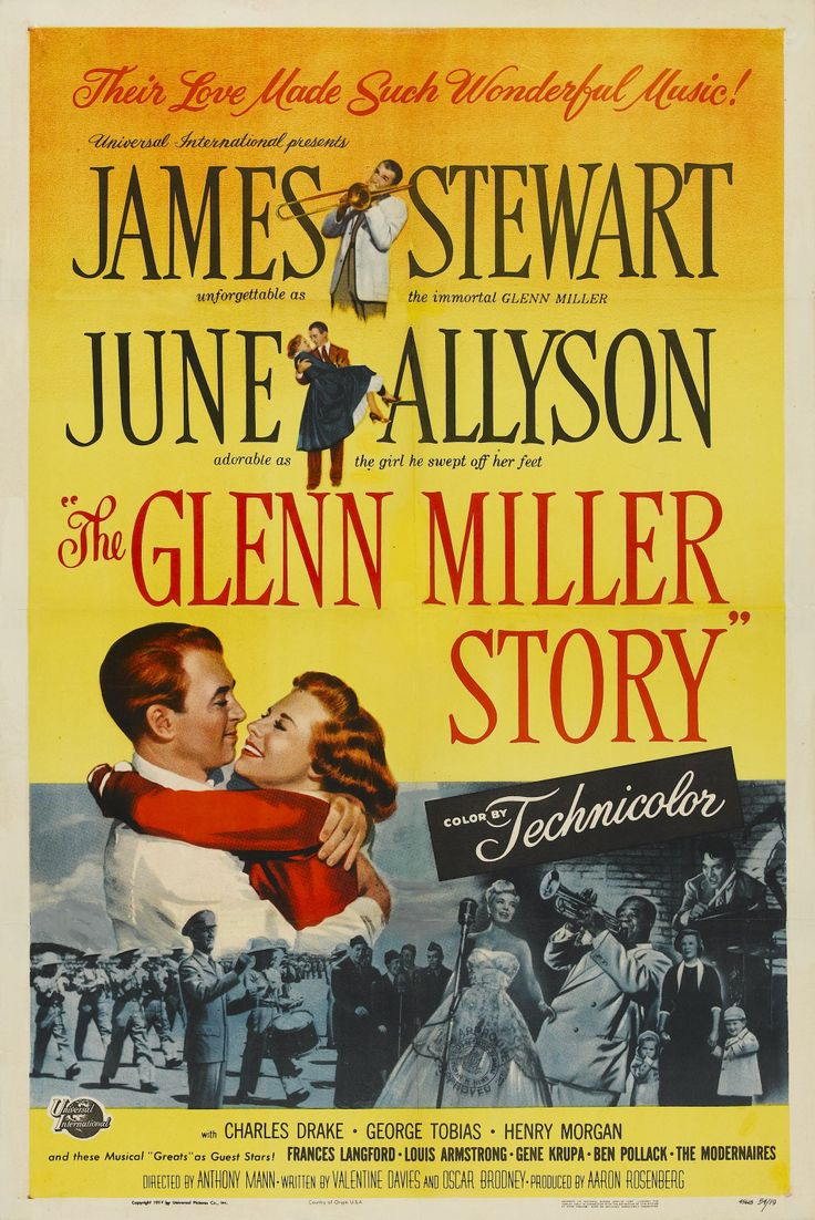"""The Glenn Miller Story (1954) this is the life of bandleader Glenn Miller, the era in which he became a success. Major Miller""""s   plane disappeared in thick fog over the English Channel while en route to Paris to perform for the troops."""