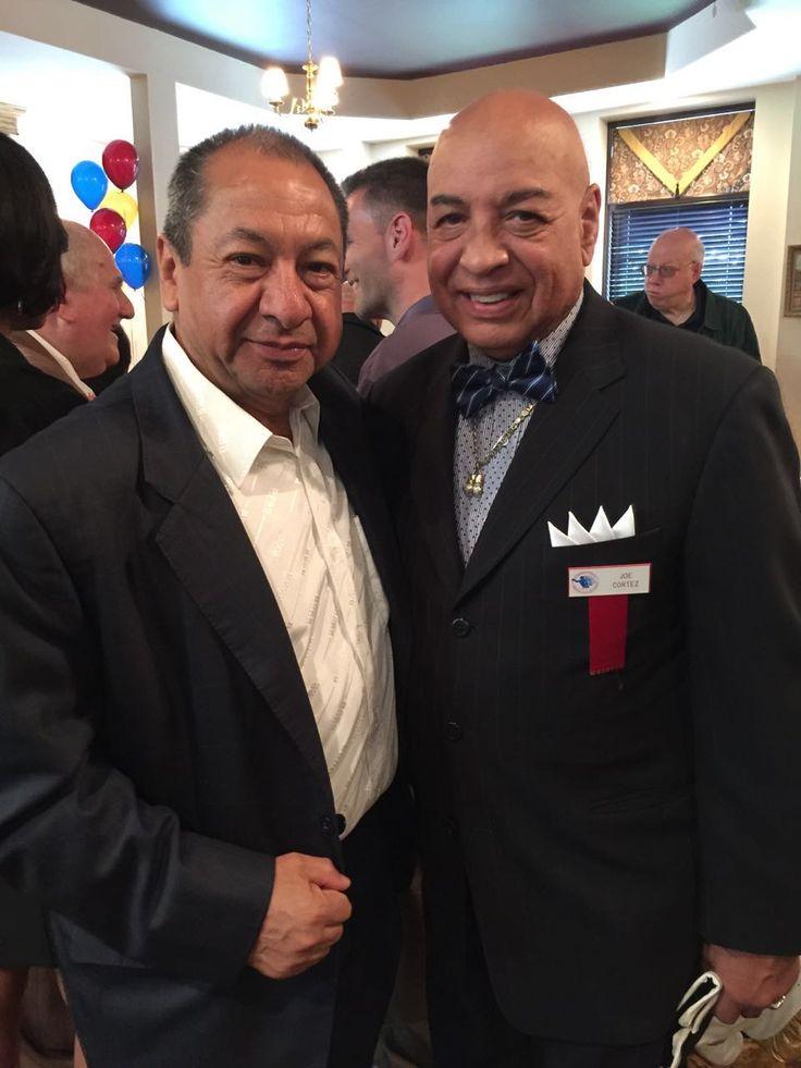 Alberto Reyes y Joe Cortez, durante el Fin de Semana de Inducción al Salón de la Fama 2016. #CletoReyes #JoeCortez #HallOfFame #boxing
