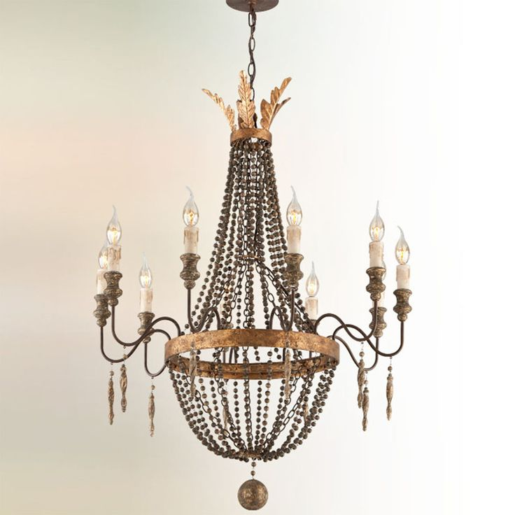 French Luxe Basket Chandelier 10 Light French Bronze Small Chandelier Chandelier Lighting Troy Lighting