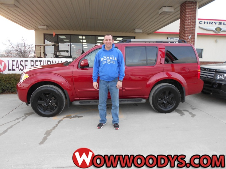 """Brett and Rebecca Adkison from Hamilton, Missouri purchased this 2011 Nissan Pathfinder and wrote, """"This has been the best vehicle buying experience I have ever had. Quick, easy and hassle free. Jeff Henderson was very helpful throughout the whole deal. Thanks!"""" To view similar vehicles and more, go to www.wowwoodys.com today!"""
