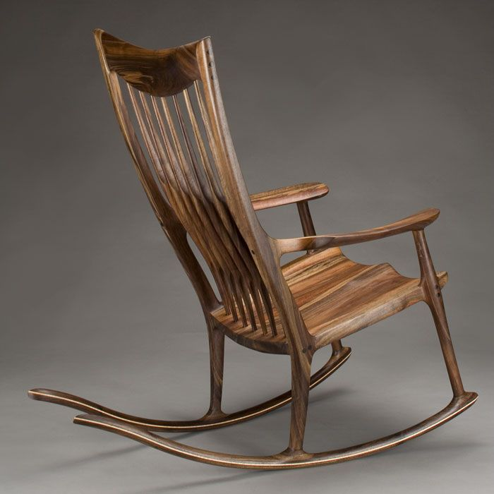 Sam Maloof inspired Rocking chair....some day...I'll build one of these!