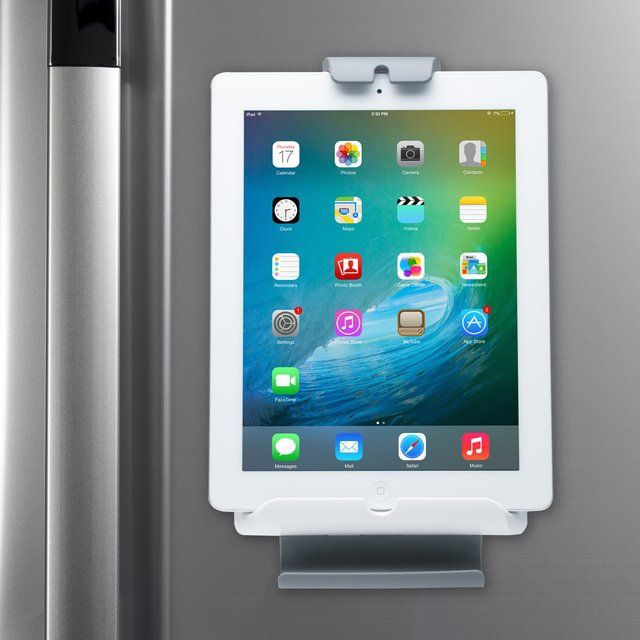 Fridge Wall Mount for Tablets - Upgrade the refrigerator by bringing your tablet into the kitchen with CTA Digital's Fridge Wall Mount for Tablets. $30.00 #FridgeMount