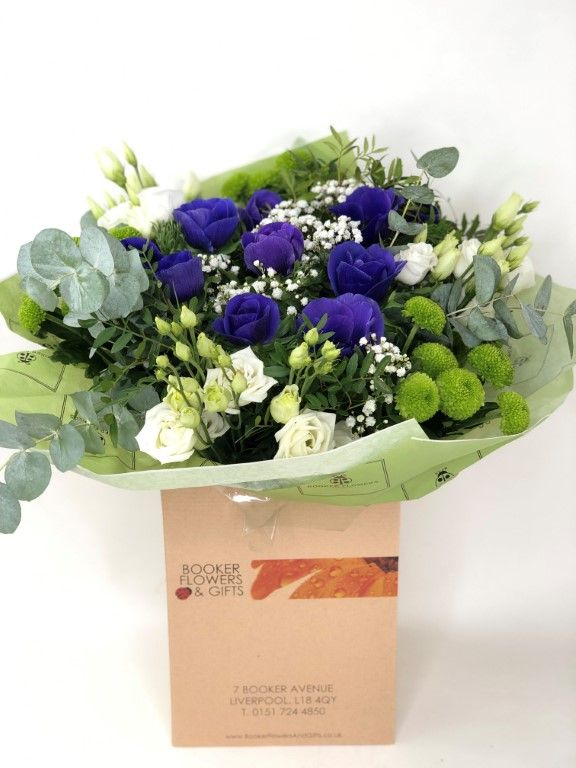 Ultra Violet Spring Anemone Bouquet Booker Flowers And Gifts Wedding Flowers Liverpool Merseyside Same Day Flower Delivery Easter Flowers Flower Delivery