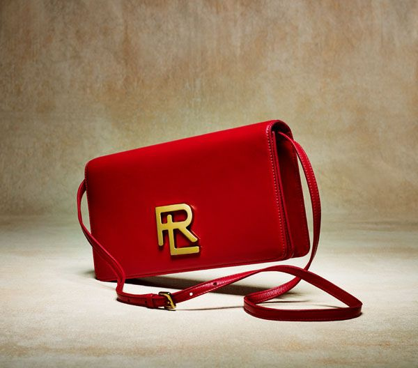 42538f3cae Ralph Lauren RL Clutch in Red Lambskin