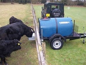 Towable animal drinking trailer. ATV quad bike tow-able drinking water carts and carriers to fill up water troughs around the farm for your cattle, sheep, horses, alpacas and Llamas. For more info: http://www.fresh-group.com/drinking-carts.html
