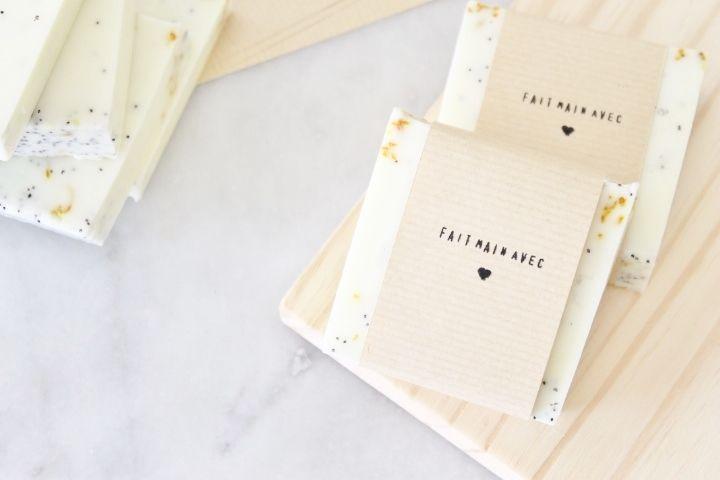 Fabriquer son savon bio en un instant! avec les bases de savon Melt & Pour étape par étape en photo.