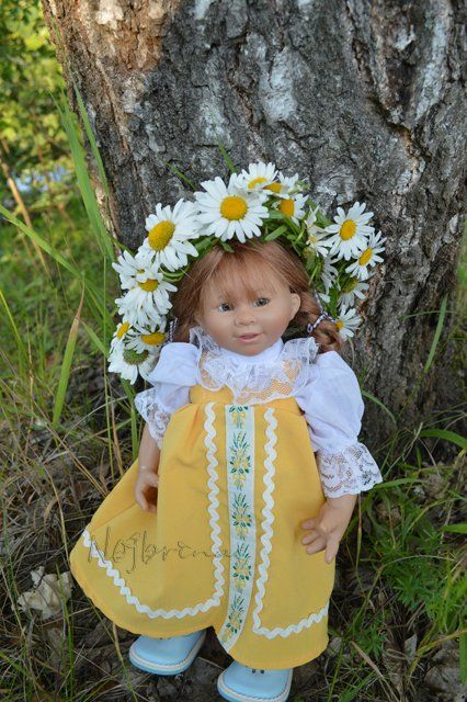 Белые ромашки, желтый сарафан. Вихтель Rosemarie Anna Muller / Коллекционные…