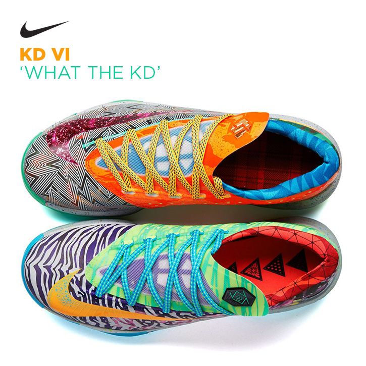 Nike KD VI 'What the KD' sweet basketball shoes hahah i cant decide if i like these ....