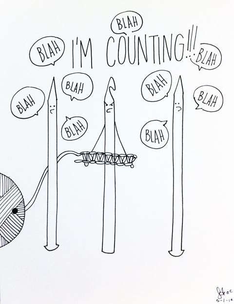 COUNTING!! I SAID COUNTING!!! on http://www.obeycrochet.com
