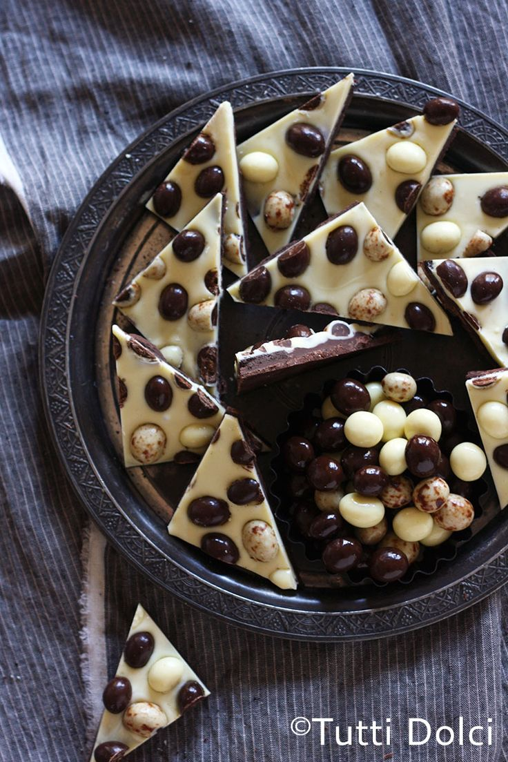 Have a little piece of espresso bark with dark chocolate to satisfy your sweet cravings