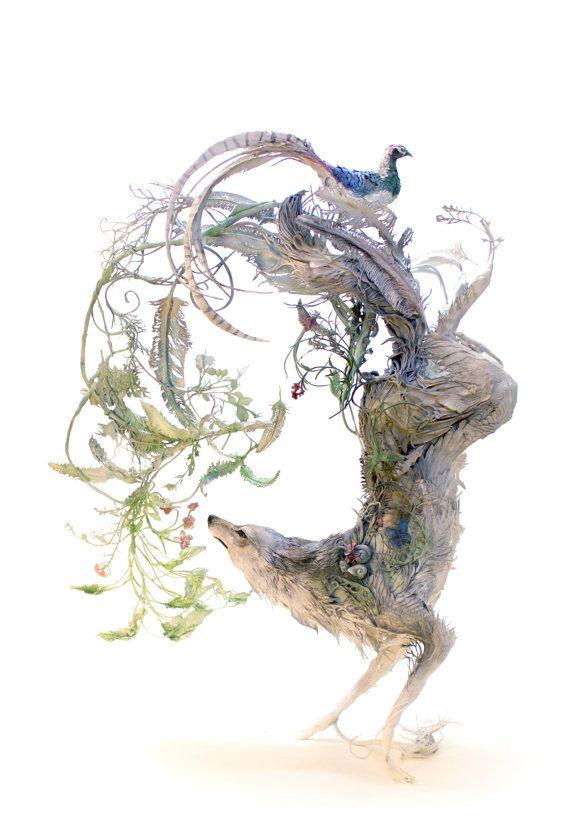 """野生の古代 II - 元ジクレー プリント版印刷 - 13 x 19"""""""