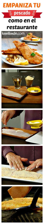 Te comparto mi secreto para saber cómo empanizar un filete de pescado para que te quede igual de rico que un pescado de restaurante. Sólo sigue estos sencillos pasos.
