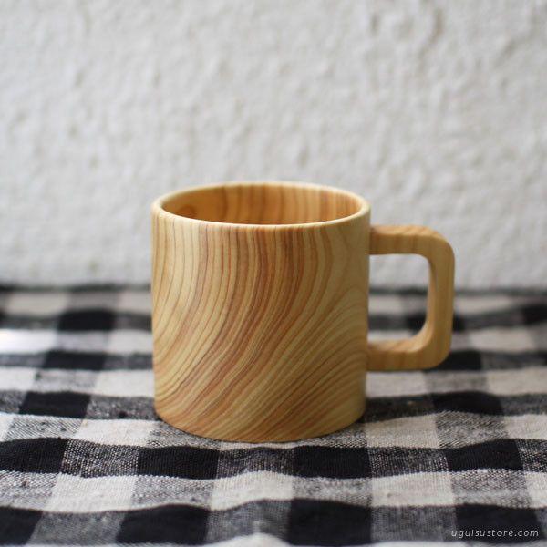 Japanese Cypress Hinoki Wood Mug | UGUiSU Online Store