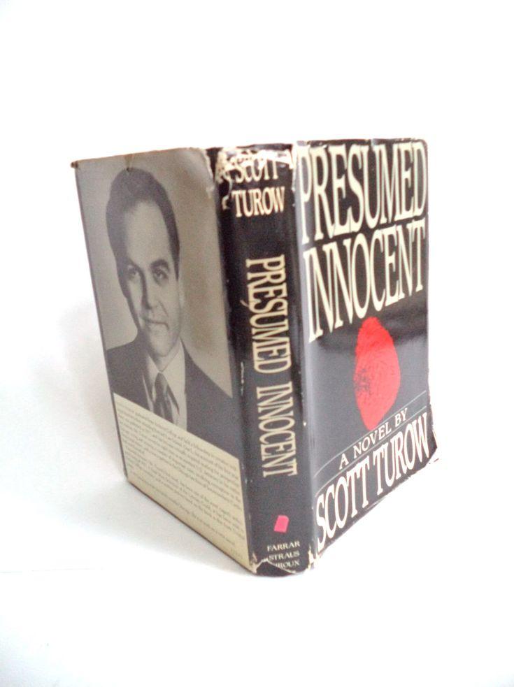 Presumed Innocent by Scott Turow First Edition Novel Book, 1987, Farrar, Book Club, Hardcover, Dust Jacket, Thriller, Crime Novel, Suspense by MushkaVintage3 on Etsy