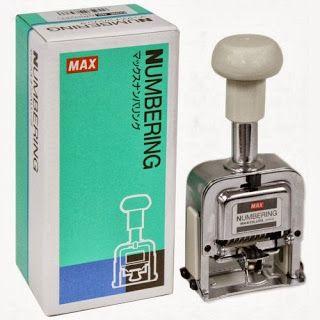 RAJ STATIONERS: MAX Numbering Machines MAX 6DIGIT Numbering Machines  MAX  MAX STAPLER