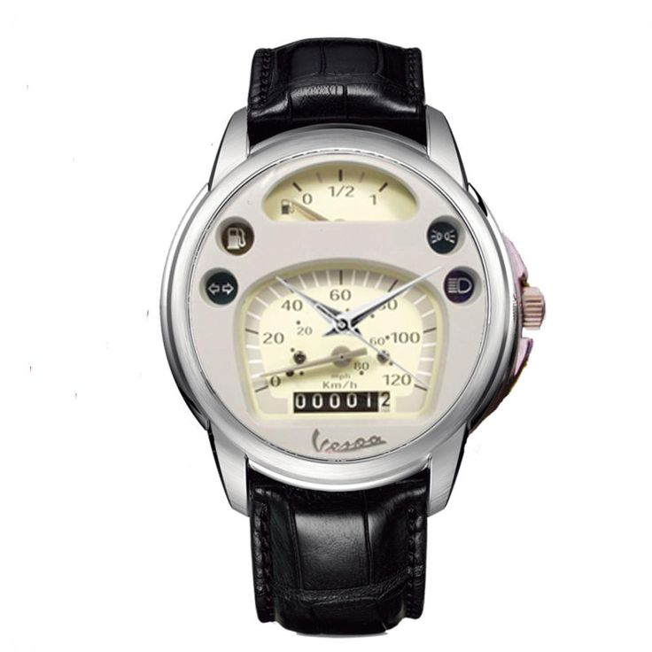 Fashion Gift New Vespa PX Gauge Speedometer Leather Watches - http://collectibles.goshoppins.com/clocks/fashion-gift-new-vespa-px-gauge-speedometer-leather-watches/
