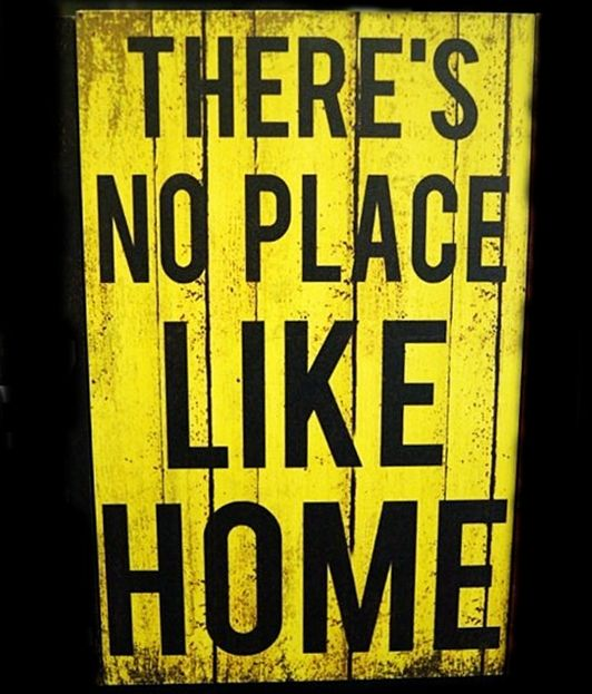 There's No Place Like Home - 20x30cm MDF Material - 125K