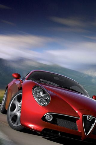 ♂ Car Red Alfa Romeo 8C Competizione