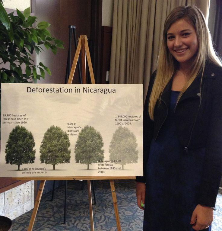 """Poster presentation """"Deforestation in Nicaragua"""""""