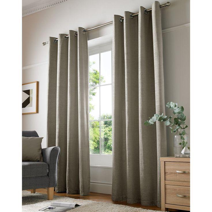 Chenille Plain Eyelet Curtains, Cream – PASX UK