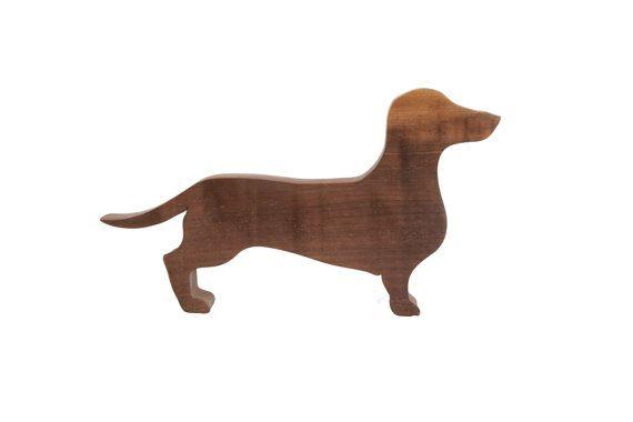 Sausage Dog Ornament - Dachshund Ornament - DAHKS-hound - Walnut wood - Sausage Dog sculpture - Sizzles - Gift for sausage dog lover