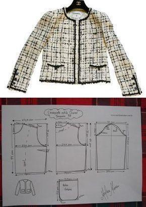 ESTILO chaqueta del estilo Coco Chanel. Los planes para todos los tamaños!
