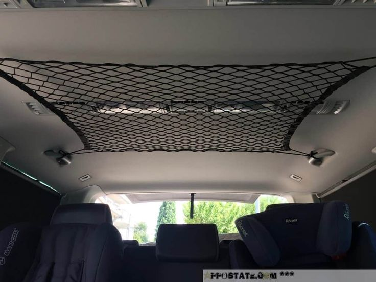 Ikea-Hacks für Busfahrer – Nummer 4: Zusätzlichen Stauraum schaffen im VW T5 Multivan durch ein Dachnetz