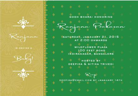 Tiara Godh Bharai   Custom Godh Bharai Invitations