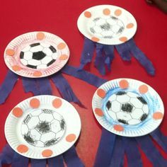 sports themed crafts | Sports Theme Craft -Soccer Sport Themed Crafts, Soccer Ball Crafts ...