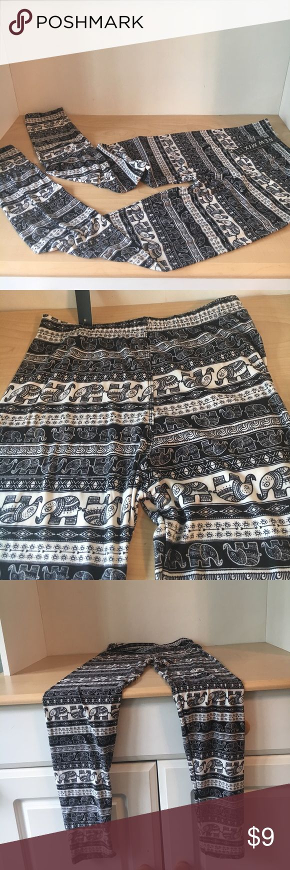 NWT Aztec Tribal Print Leggings NWT fashionable print leggings with elephant designs. Very soft and comfortable, double stitch seam allows for a better fit. 95% polyester, 5% spandex – to allow contouring to most body shapes. One size fits most. Versatile, lightweight and lined. Pants Leggings