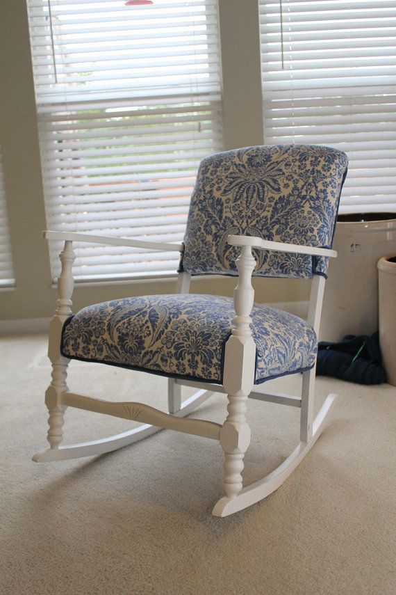 vintage rocking chair redone vintage rocking chair white rocking ...