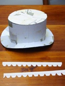 Steampunk Top Hat Tutorial, base to work with, Cover in felt??
