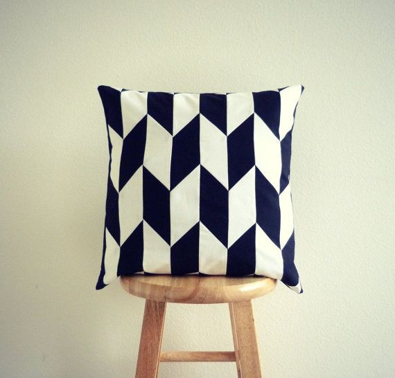 Black and White Pillow Cover GeometricElectric Handmade Modern Home Decor