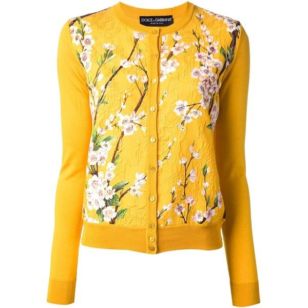 DOLCE & GABBANA floral print cardigan ($767) ❤ liked on Polyvore ...
