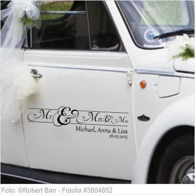 163 besten Autoaufkleber Hochzeit Bilder auf Pinterest