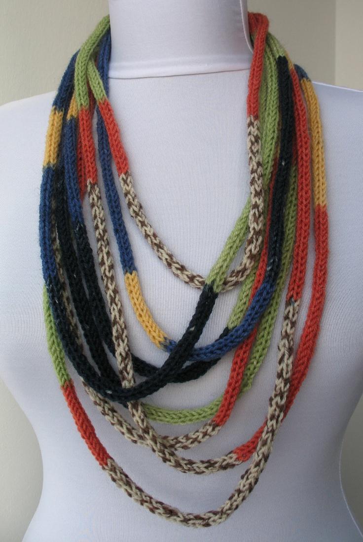 Knit Scarf Necklace