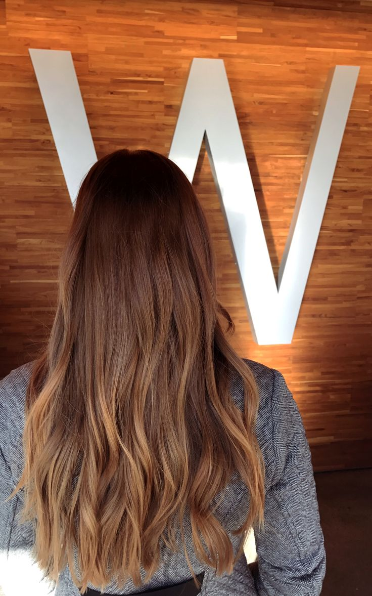 Rich bronzed copper red brown hair color