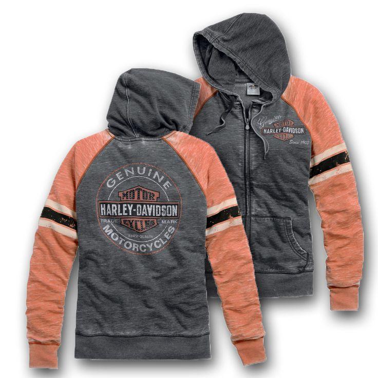 Harley-Davidson® Women's Genuine Oil Can Burnout Hoodie