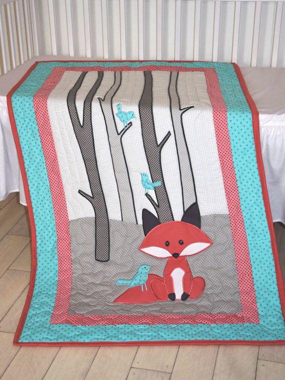 Zorro de manta niño o niña cuna ropa de cama por Customquiltsbyeva