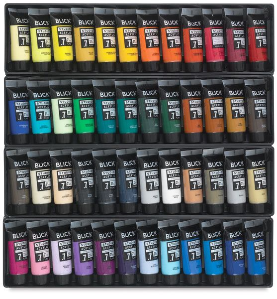 Blick Studio Acrylic Paints: Set of 48 Tubes