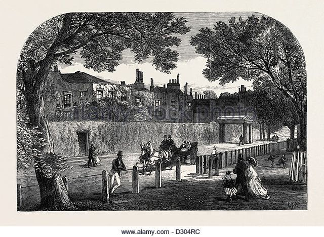 CAMBRIDGE COTTAGE KEW THE BIRTHPLACE OF PRINCESS MARY OF CAMBRIDGE LONDON UK 1866 - Stock Image